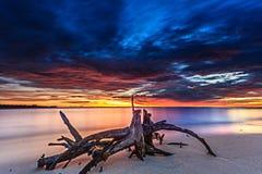 Красивые заход солнца и восход солнца стоковое фото rf