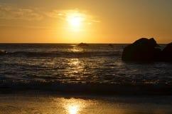 Красивые заходы солнца Стоковое фото RF