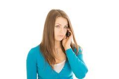 Красивые звонки женщины Стоковая Фотография RF