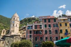 Красивые земли Cinque Terre Стоковые Изображения