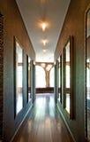 Красивые зеркала в коридоре Стоковая Фотография RF