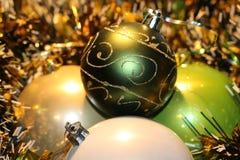 Красивые игрушки рождества Стоковые Изображения