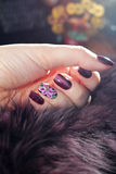 Красивые дизайны ногтя Стоковая Фотография RF