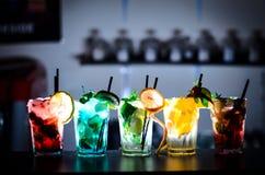 Красивые коктеили стоковая фотография