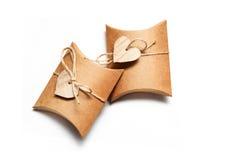 Красивые коробки для подарков на белой предпосылке Стоковая Фотография