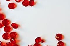 Красивые красные диаманты Стоковые Фотографии RF