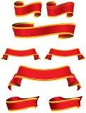 Красивые Красные знамена Стоковое Изображение