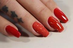 Красивые красные ногти Стоковое Изображение