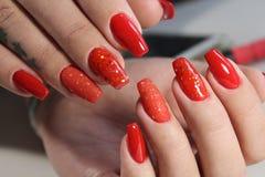 Красивые красные ногти Стоковое Изображение RF