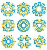 Красивые красочные абстрактные элементы цветка Стоковая Фотография