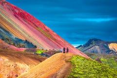 Красивые красочные вулканические горы Landmannalaugar в Исландии Стоковое Фото