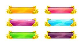 Красивые красочные длинные горизонтальные кнопки Стоковая Фотография