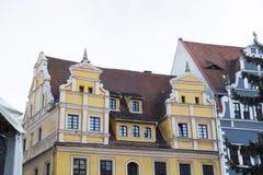 Красивые красочные европейские meideval дома стиля старого городка Стоковое Фото