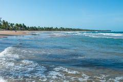Красивые ландшафты и вода текстурируют формы в Itacare Стоковое Изображение