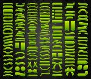 Красивые ленты, бирки и дизайн вектора собрания смычков установленный Стоковое Фото