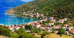 Красивые места Греции, Ionian острова Kefalonia рисуночно стоковое фото rf