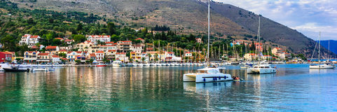 Красивые места Греции, Ionian острова Kefalonia рисуночно стоковые изображения rf