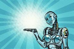 Красивые настоящие моменты робота женщины Стоковое Изображение