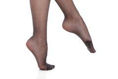 Красивые ноги тонкой девушки Стоковое Фото
