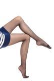 Красивые ноги тонкой девушки Стоковая Фотография