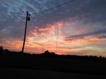 Красивые ночные небеса Кентукки стоковые изображения rf