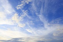 Красивые облака неба в славном дне Стоковое Изображение RF