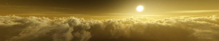Красивые облака, панорама облаков, стоковое изображение rf