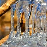 Красивые образования льда Иллинойс Стоковые Изображения RF