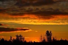 Красивые облака на заходе солнца Стоковое Изображение
