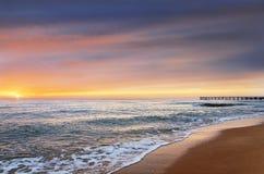 Красивые облака над морем Стоковая Фотография RF