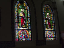 Красивые окна часовни Loretto в соборе Св.а Франциск Св. Франциск Assisi в Санта-Фе Неш-Мексико Стоковое Фото