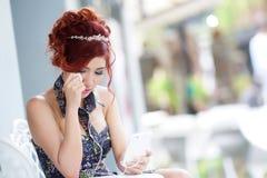 Красивые осадка и плакать женщины Стоковая Фотография RF