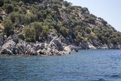 Красивые острова и горы Стоковые Изображения