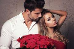 Красивые пары на дате Стоковая Фотография RF