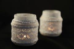 Красивые подсвечники шнурка стоковое изображение rf