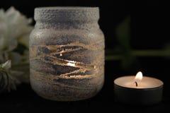 Красивые подсвечники шнурка стоковое фото
