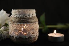 Красивые подсвечники шнурка стоковое изображение