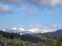 Красивые прикарпатские горы Стоковые Изображения