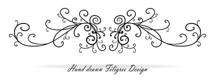 Красивые причудливые дизайн переченя, параграф или подчеркивание текста, wedding элемент дизайна Стоковая Фотография RF