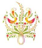Красивые птицы цвета, изолированные на белизне Стоковое Изображение RF