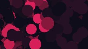 Красивые пузыри летая бесконечно слева направо и изменяя цвета r Хаотические пурпурное, розовый, и сирень бесплатная иллюстрация