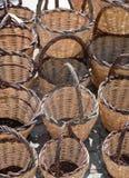 Красивые плетеные корзины handmade Стоковые Изображения
