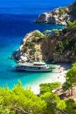Красивые пляжи Греции - Apella в Karpathos Стоковые Фотографии RF