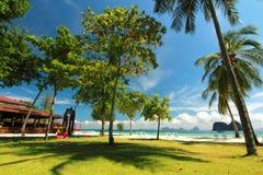 красивые пляж и курорт Стоковые Изображения RF