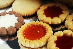 Красивые различные печенья, очень вкусный десерт Стоковое фото RF