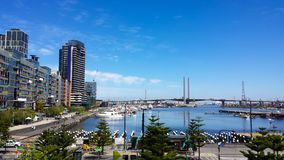 Красивые районы доков, в Мельбурне, Австралия Стоковые Фото
