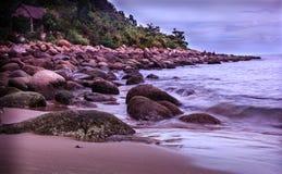 Красивые древние пляжи в Вьетнаме Стоковые Фото