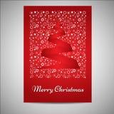 Красивые рождественская открытка/комплект плаката иллюстрация штока