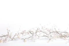 Красивые свадьба или рождество справедливо освещают с жемчугами Стоковые Фото