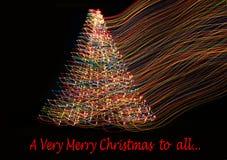Красивые света рождественской елки Стоковые Фотографии RF